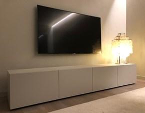 Porta tv Lampo Sangiacomo in laccato opaco a prezzo Outlet