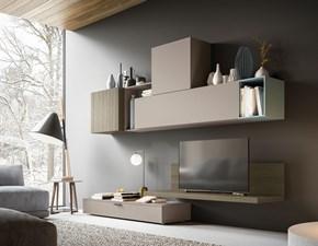 Porta tv Light day 05 mottes mobili Artigianale in laminato opaco a prezzo Outlet