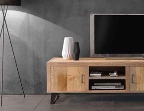 Porta tv Mobile porta tv in legno massello mottes mobili Artigianale in legno a prezzo scontato