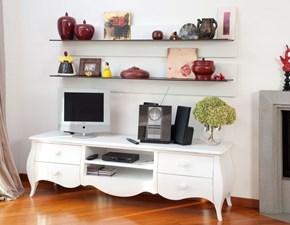 Porta tv Mobile-porta-tv mod.klaus laccato bianco lucido Artigianale in laccato lucido in Offerta Outlet