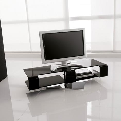 outlet Porta Tv modello Bercy 7096 della Tonin Casa vetro nero