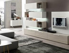 Porta tv Mottes mobili composizione modulo 14 Artigianale OFFERTA OUTLET