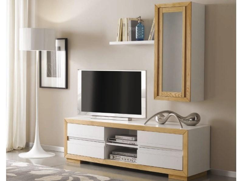 Porta Tv Pensile.Porta Tv Mottes Mobili Composizione Porta Tv Con Zoccolo E Pensile Artigianale Offerta Outlet