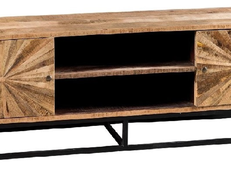 Porta tv Outlet etnico in legno a prezzo Outlet