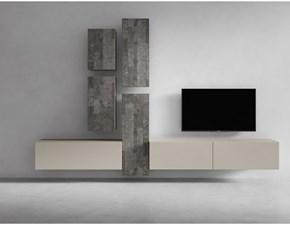 Porta tv Presotto italia in laccato opaco I-modulart 6 a prezzo Outlet
