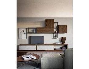 Porta tv San michele in legno Composizione day 2 in Offerta Outlet