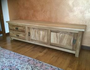 Porta tv Teak riciclato - ante scorrevoli Artigianale in legno in Offerta Outlet