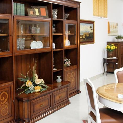 Prandina soggiorno parete attrezzata legno pareti attrezzate classico soggiorni a prezzi scontati - Parete attrezzata classica prezzi ...