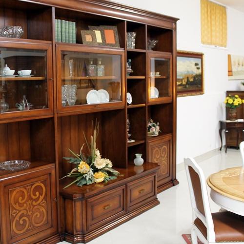 Pareti Attrezzate Moderne In Legno Massello: Parete attrezzata tv moderno in legno massiccio con.