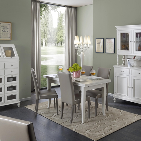 Sala da pranzo completa di tavolo sedie mobile tve for Sala da pranzo prezzi