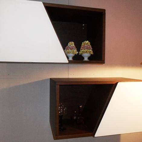Soggiorno grattarola pensili scaffali contenitori laccato - Scaffali a parete ...
