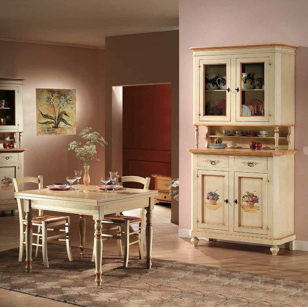 Sala da pranzo in stile classico soggiorni a prezzi scontati for Mobili soggiorno decorati