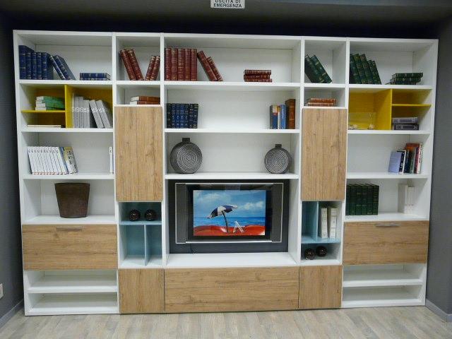 Soggiorno a c f libreria slim laminato opaco librerie for Libreria soggiorno moderno
