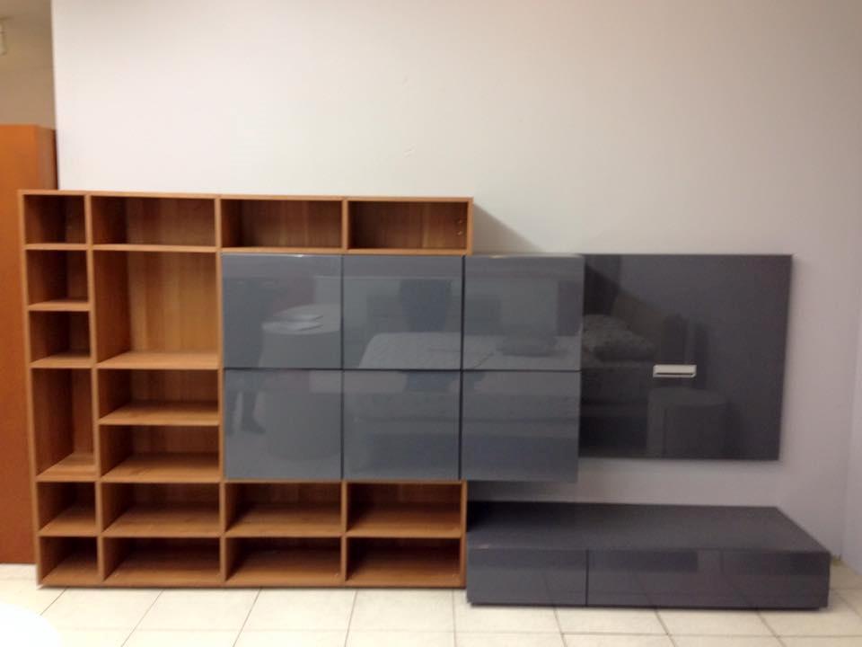 Soggiorno alf parete soggiorno ciliegio e laccato grigio scontato del 59 soggiorni a prezzi - Mobili soggiorno moderni ciliegio ...