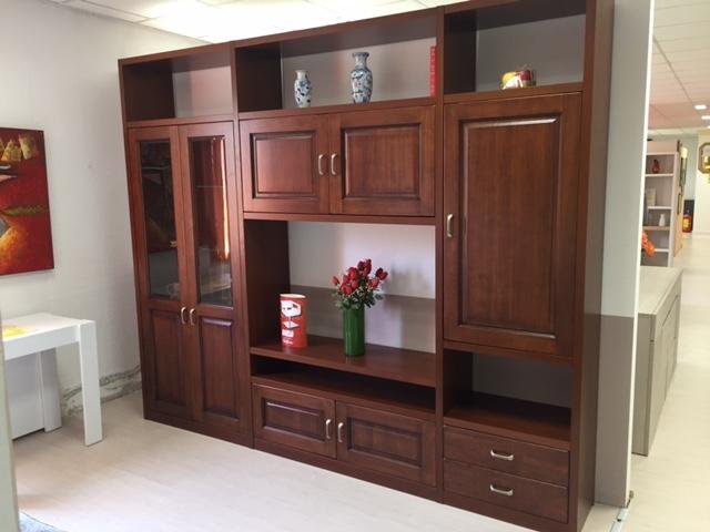Soggiorno alpe verona legno pareti attrezzate classico for Mobili soggiorno prezzi