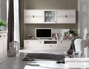 Soggiorno Arcadia di Colombini modello AS203. Soggiorno classico ed elegante disponibile in due finiture.