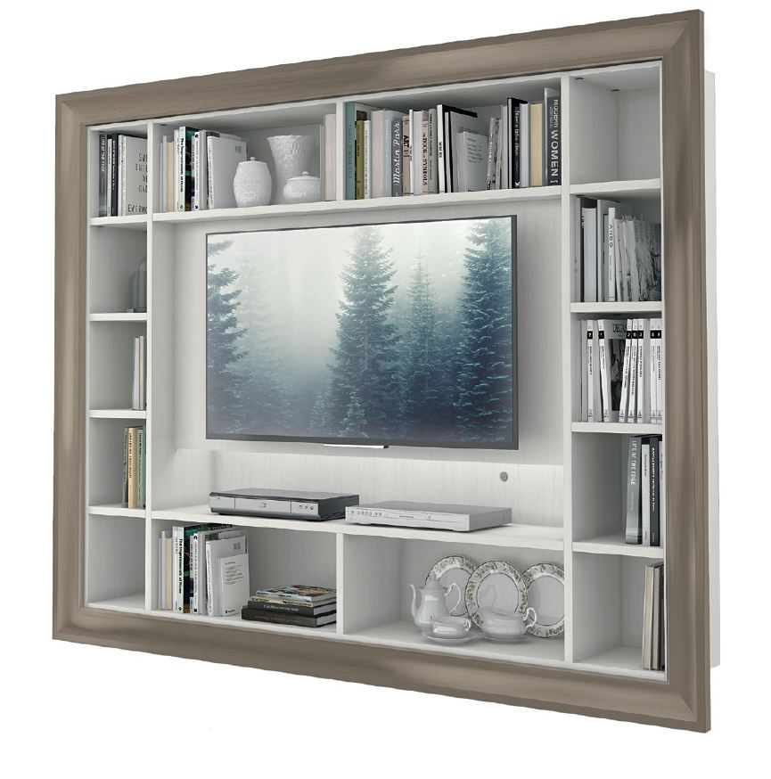 Soggiorno Porta Tv: Soggiorno porta tv alpe finitura rovere chiaro e bianco opaco.