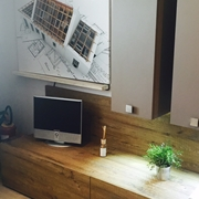 Soggiorno Area Arredamenti L 210 in laminato materico spessore 2,2 cm finitura Sherwood