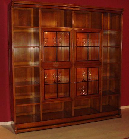 Soggiorno assidasolo stevenson legno librerie classico - Librerie mobili prezzi ...
