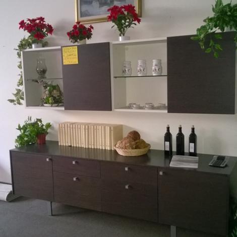 Soggiorno Berloni componibile in rovere gessato - Soggiorni a prezzi ...