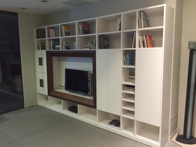 Soggiorno besana libreria spalla concerto laccato opaco for Librerie design outlet