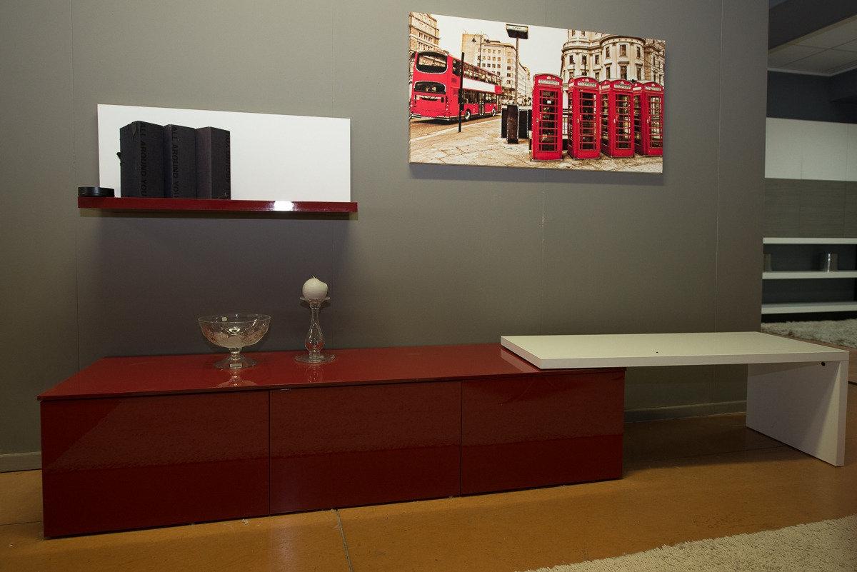 soggiorno bianco/rosso - soggiorni a prezzi scontati - Arredamento Grigio E Rosso