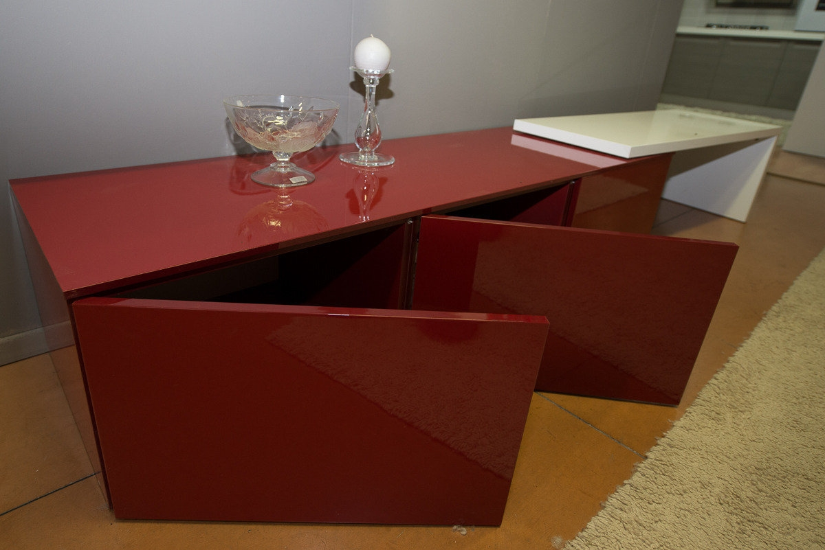soggiorno bianco/rosso - Soggiorni a prezzi scontati