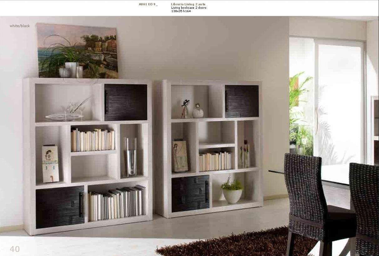 Soggiorno Bortoli Libreria living 2 ante in crash bambu' - Soggiorni a prezzi scontati