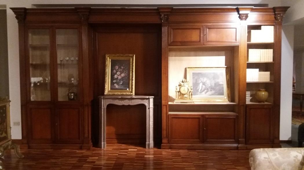Soggiorno busatto parete attrezzata busatto legno pareti attrezzate classico soggiorni a - Parete attrezzata classica prezzi ...