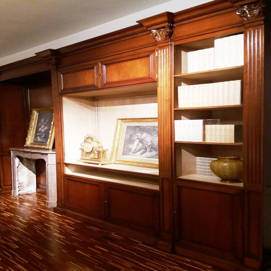 Soggiorno busatto parete attrezzata busatto legno pareti attrezzate classico soggiorni a - Parete attrezzate classiche ...