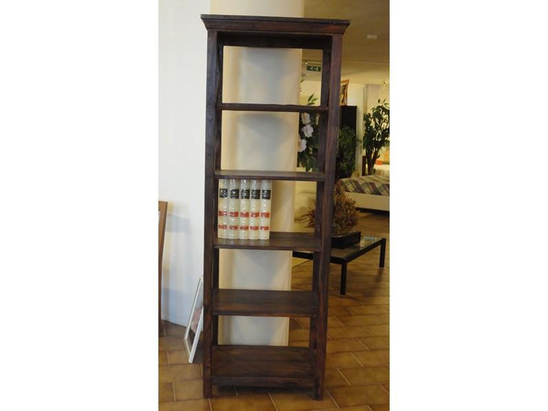 Soggiorno castagnetti libreria legno librerie design for Librerie design outlet