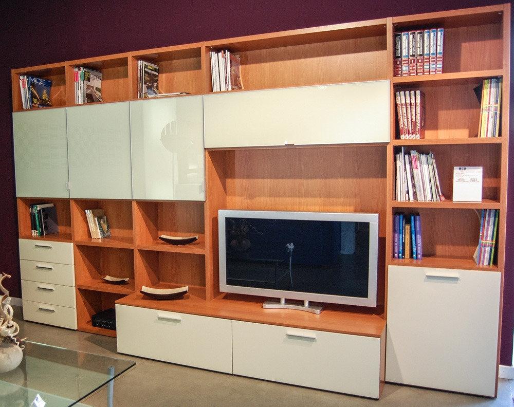 Soggiorno ciliegio offerta soggiorni a prezzi scontati for Arredamento soggiorno moderno in legno