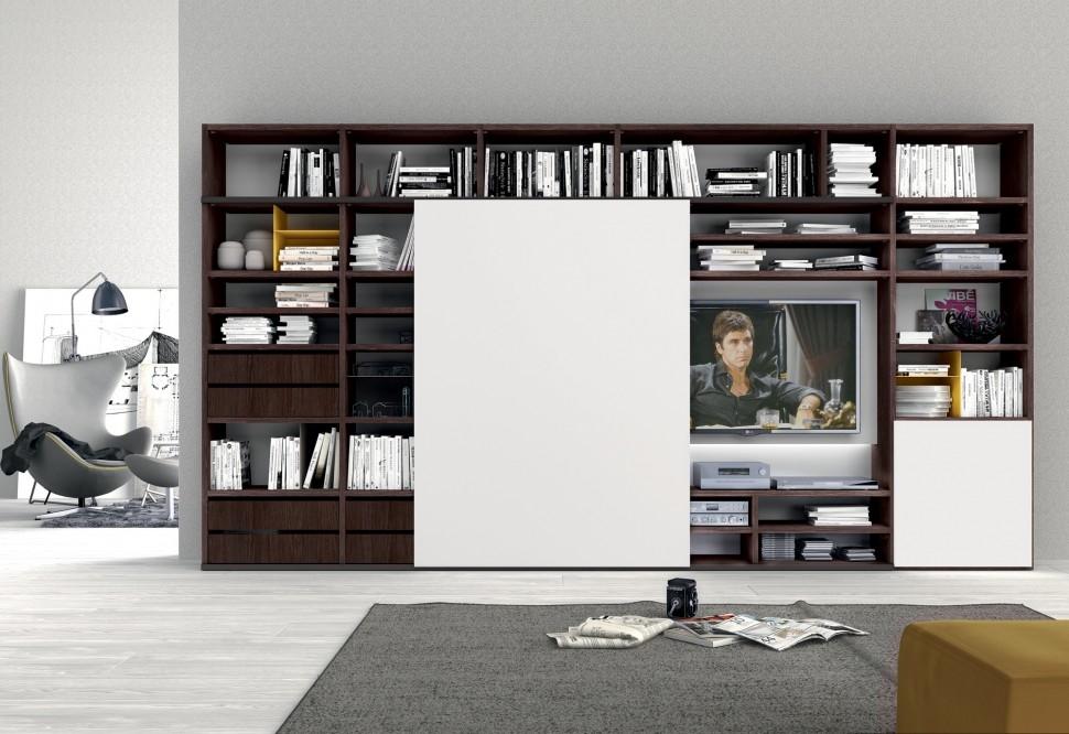 Soggiorno colombini golf laminato materico pareti for Pareti attrezzate soggiorno moderne