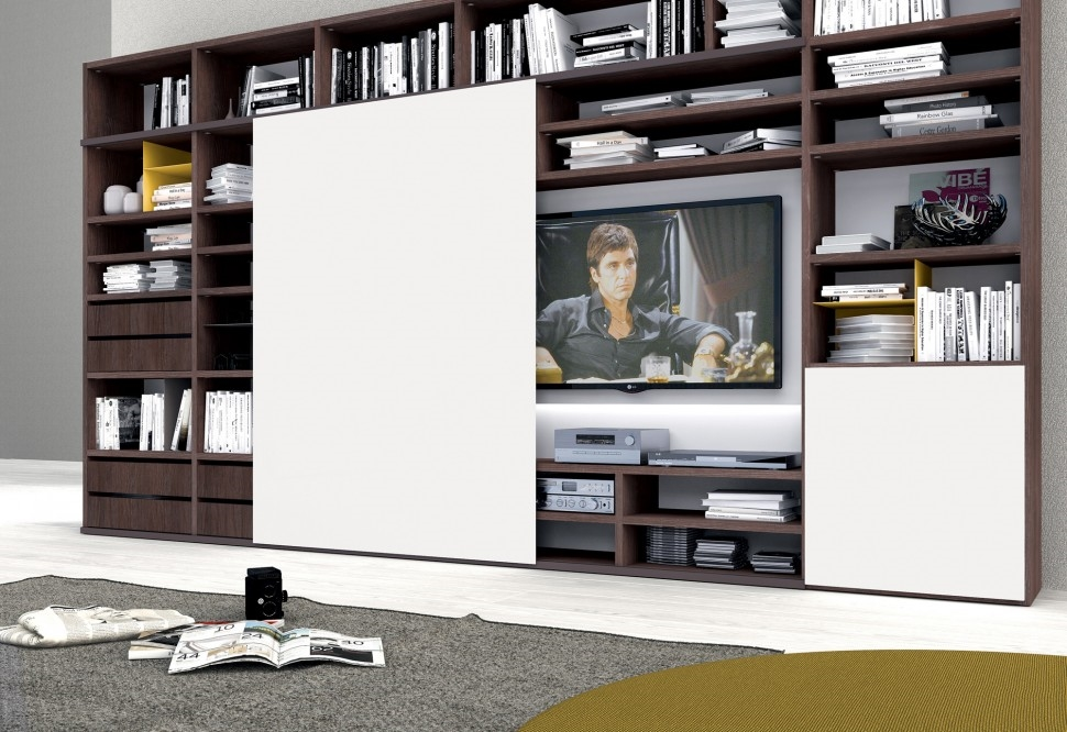Soggiorno colombini golf laminato materico pareti attrezzate moderno soggiorni a prezzi scontati - Pareti attrezzate porta tv ...