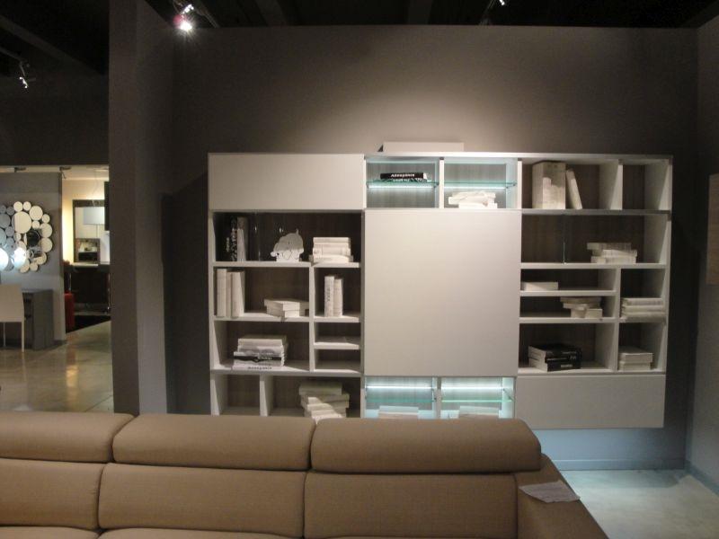 Soggiorno colombini infinity laminato materico librerie for Libreria soggiorno moderno