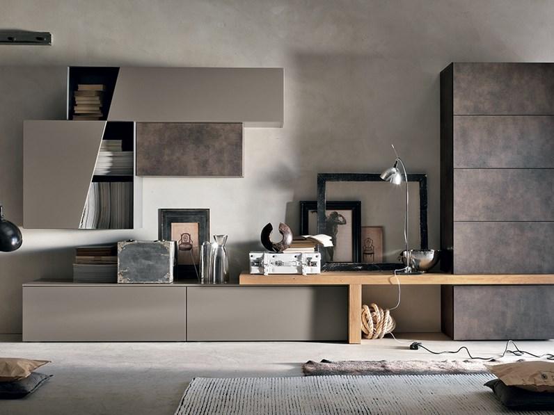 Soggiorno compas composizione a002 for Composizione soggiorno moderno