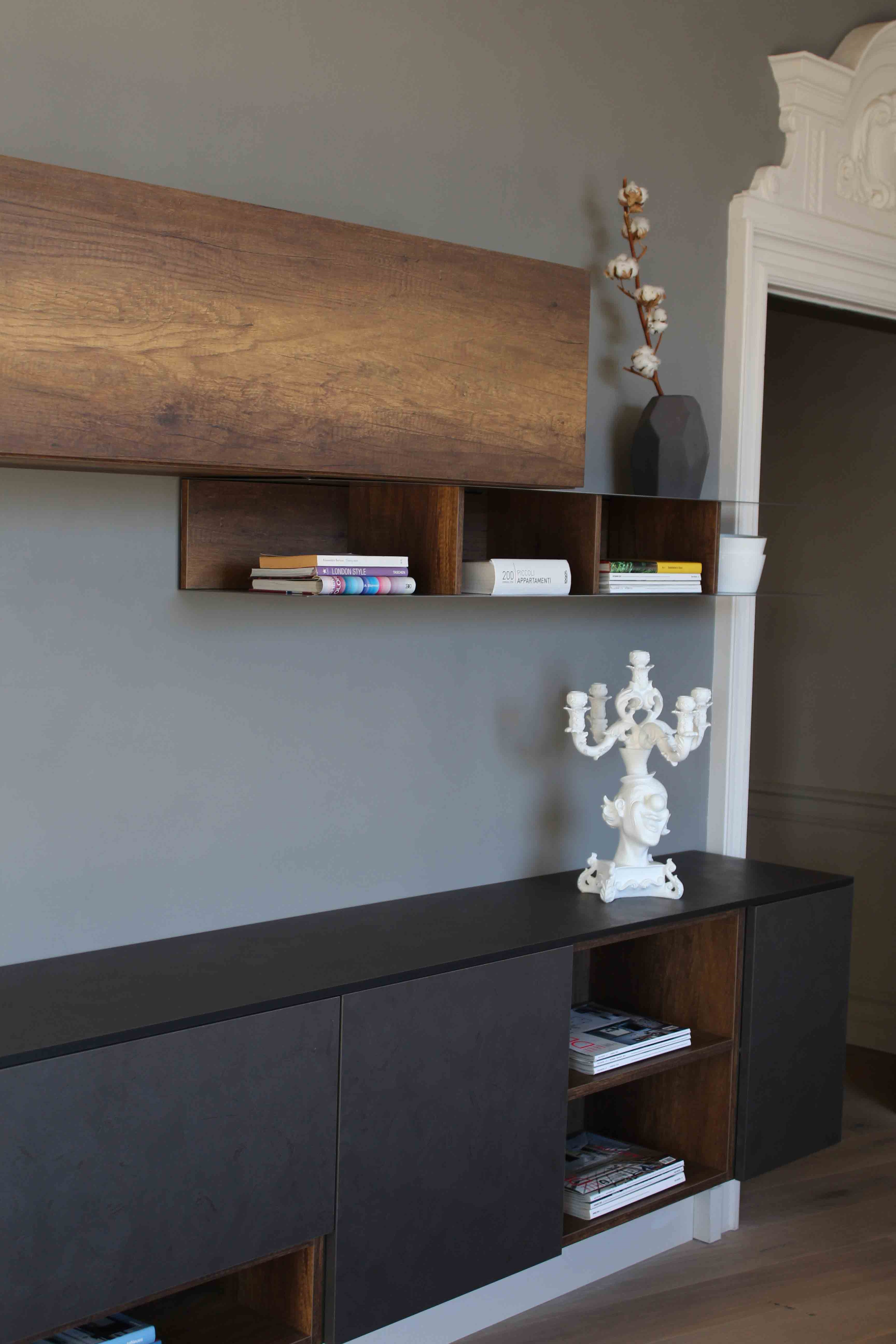 Beautiful parete attrezzata soggiorno ad angolo pareti for Arredare il soggiorno con camino ad angolo