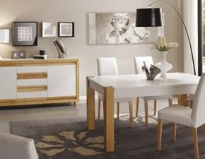 Soggiorno completo Artigianale in legno Mottes mobili composizione sala in Offerta Outlet