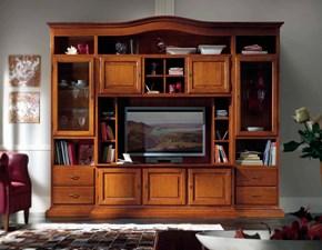 Soggiorno in legno bianco con tavolo sedie mobile tv e for Mobili modo10 prezzi