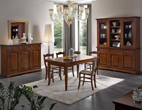 Soggiorno completo Artigianale Sala da pranzo completa in legno mottes mobili SCONTO 17%