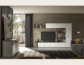Soggiorno completo in laminato materico stile design Living abitare Mobilstella