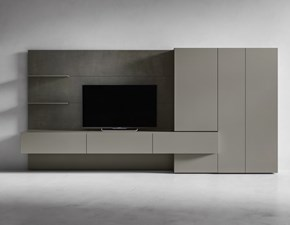 Soggiorno completo in stile design Presotto italia in laccato opaco Offerta Outlet