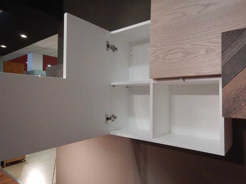 Soggiorno completo in stile moderno Artigianale in legno Offerta Outlet