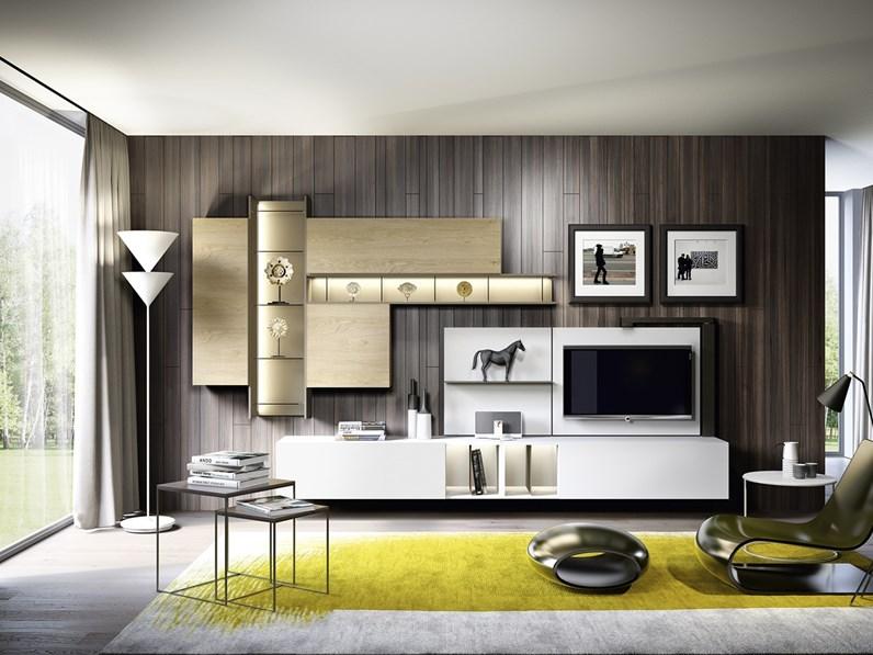 Soggiorno completo in stile moderno astor mobili in legno for Outlet dei mobili