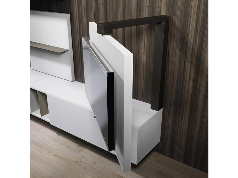 Soggiorno completo in stile moderno astor mobili in legno for Outlet mobili moderni