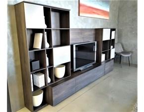 Soggiorno completo in stile moderno Novamobili in laminato materico Offerta Outlet