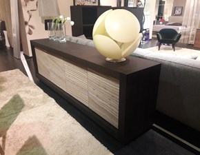 Soggiorno completo in stile moderno Riflessi in legno Offerta Outlet
