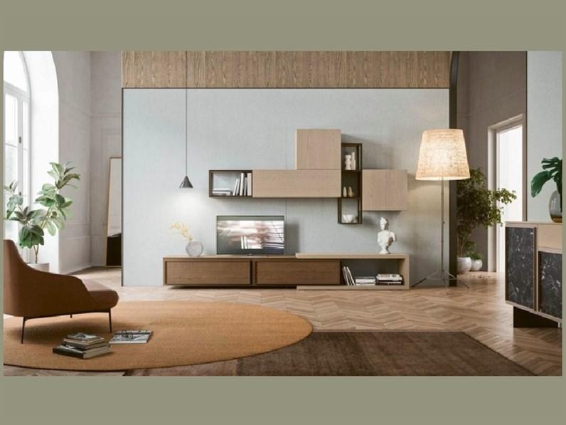 Soggiorno completo in stile moderno San michele in legno Offerta Outlet