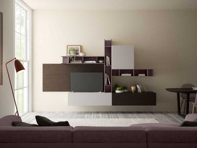 Soggiorno completo Living 577 Giessegi in stile moderno a prezzo ribassato