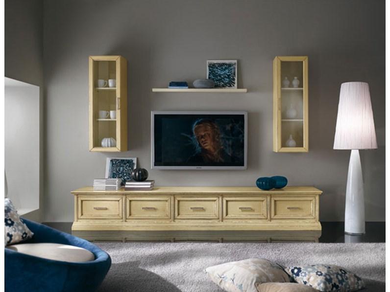 Soggiorno completo Mobile soggiorno base con cassettoni e vetrine ...